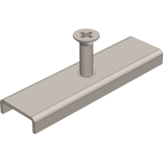 Крепеж пластиковый к лотку водоотводному пластиковому DN100 для арт.107
