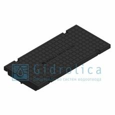 Глухая крышка для лотка водоотводного Gidrolica Standart КЛ-20.23,8.50 - пластиковая, кл. С250