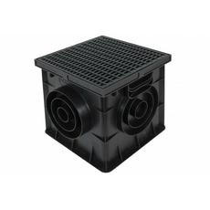 Дождеприемник с решеткой 300х300 чёрный Europlast