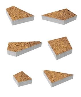 Тротуарная плитка Б.4.Фсм.8 Оригами Листопад Гранит