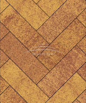 Тротуарная плитка Б.8.П.8 Паркет Листопад Гладкий