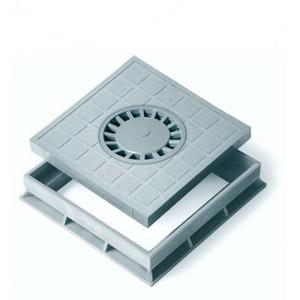 Крышка с сифоном для водоприемника серая + рамка Europlast