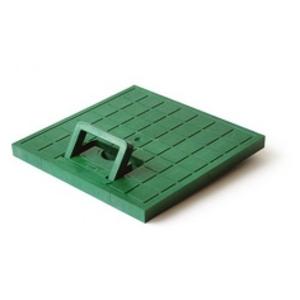 Крышка с ручкой пластиковая к водоприемнику зеленая Europlast