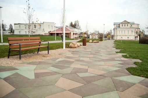 Тротуарная плитка Б.4.Фсм.8 Оригами Гранит