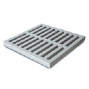 Решетка пластиковая к водоприемнику серая 300*300 Europlast