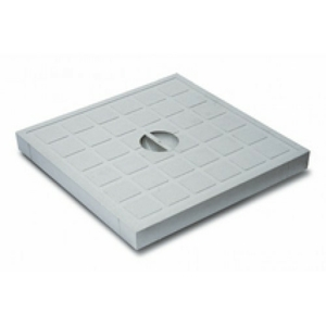 Крышка пластиковая к водоприемнику серая В-125 400*400 Europlast