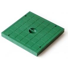 Крышка пластиковая к водоприемнику зеленая  Europlast