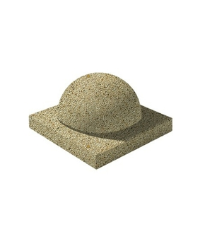 Декоративный элемент Полушар Мытый бетон