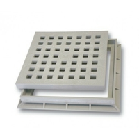 Решетка пластиковая к водоприемнику серая В-125 400*400 Europlast