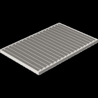 Решетка  Gidrolica стальная 390х590 (ячейка)