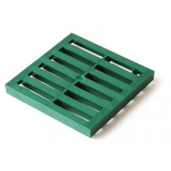Решетка пластиковая к водоприемнику зеленая Europlast