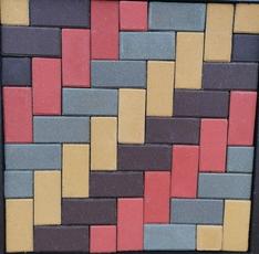 Тротуарная плитка классическая цветная, высота 60 мм
