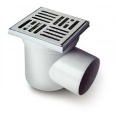 Трап горизонтальный низкий пластик / без двойного обратного клапана 110 Europlast